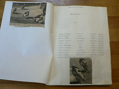Moto Gp Spain Montjuich, Scrapbook With Pictures And Results 1962-1978 Nieto