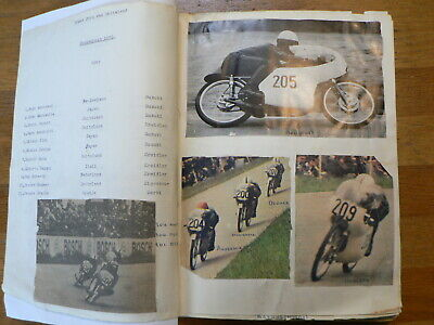 Grosser Preis Deutschland Moto Scrapbook With Pictures And Results 1949-1978