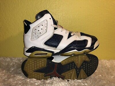 newest 141cd 40a83 Youth Air Jordan 6 Retro GS Olympic 2012 Basketball Shoes 384665-130 Size 5Y