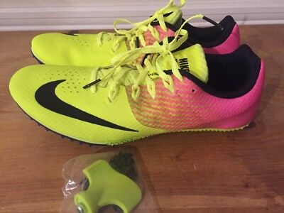 cheap for discount 44735 ef747 Nike Zoom Rival S Men s Track Sprint Spikes 806554 999 Size 12 Yellow Pink