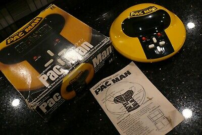 TOMY PAC MAN Vintage Electronic Handheld  Tabletop Video Arcade Game  ✨IN BOX✨