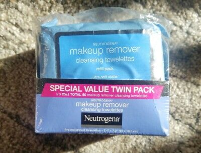 Neutrogena  Twin Pack Makeup Remover 2×25 towelettes