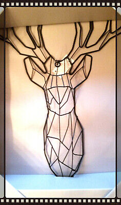 Lovely Metal Stag Wall Hanging / Decoration Christmas