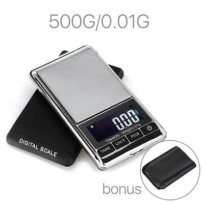 500g 0.01 Digital Pocket Scales Jewellery Precision Electronic Weight Lab Pouch