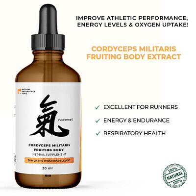 Cordyceps Militaris Mushroom Organic *Fruiting Body* Liquid Extract 1000 mg