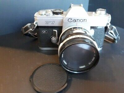 Canon FT QL camera body and lens. Good condition.