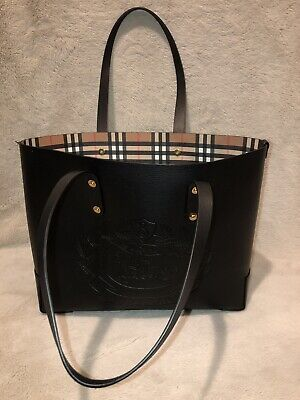 1314706449a04 BURBERRY EMBOSSED CREST Leather Tote -  550.00