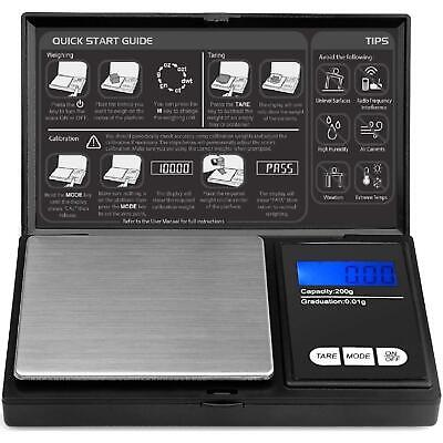 Pocket Digital Scales 0.01g 200g Jewellery Gold Weighing Mini LCD Electronic