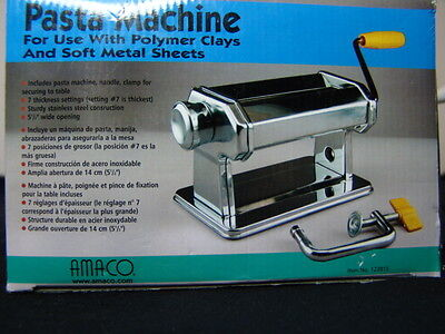 Amaco Pasta Machine For Use With Polymer Clay And Soft Metal Sheets Unused