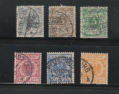 Germany stamps #45 - 50, used short set, nice, clean older issues