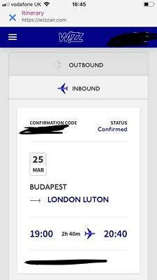 Wizz Air Return Flights To Budapest 23-25th March 2019 From Luton Airport
