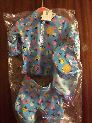 Babys Costume 3/6 Months Bnwt Sun Protection Hat Shorts Top