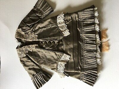 Antique reproduction French silk dress with jacket