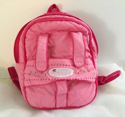 Bitty Baby Bittytwin (American Girl) Pink Fabric Doll Carrier Diaper Bag