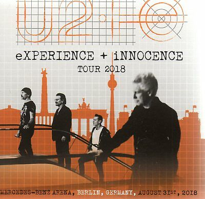 U2 - EXPERIENCE+ INNOCENCE TOUR 2018 (LIVE BERLIN 31th August) - 2CD DIGISLEEVE