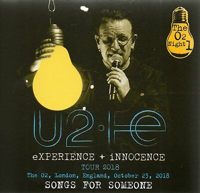 U2 - SONG FOR SOMEONE (THE O2 NIGHT 1,  23th October 2018) - 2CD DIGISLEEVE  NEW