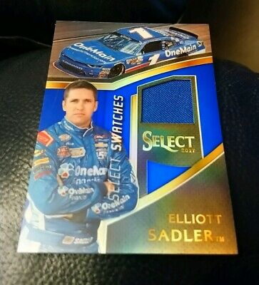 Elliot Sadler 2017 Panini Select Nascar Blue Prizm Fire Suit Relic 37/199