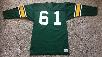 1b9f726cfcef30 VINTAGE GREEN BAY PACKERS #61 SAND-KNIT Large (42-44) Replica Jersey ...