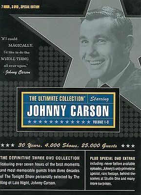 Johnny Carson: The Ultimate Collection DVD 2003, 3-Disc Set NEW SEALED LONGBOX