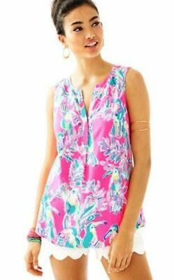 394aaeab697b Lilly Pulitzer NWT Sleeveless Stacey Top DRAGON FRUIT TOUCAN CAN XL XLARGE