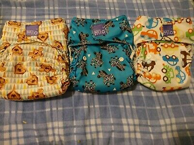 Miosolo Reusable Washable Cloth Nappy (Preloved Bundle) x 3