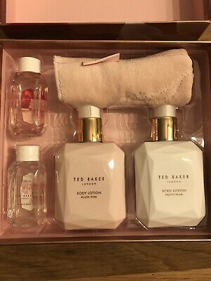 Ted Baker Porcelain Rose GIFT SET with Body lotion/ bubble bath/ flannel NEW