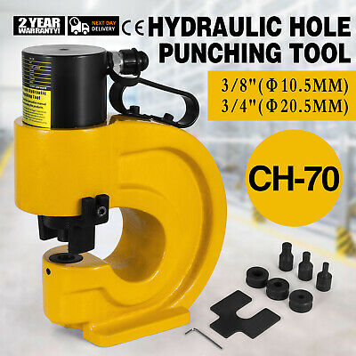 CH-70 Hydraulic Hole Punching Tool Puncher 35T CFP-800-1 Smooth Electric Pump