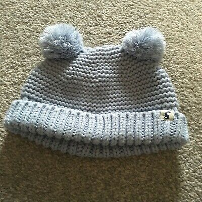 Joules Baby 6-12 months Winter Woolly Hat Baby Blue in very good condition
