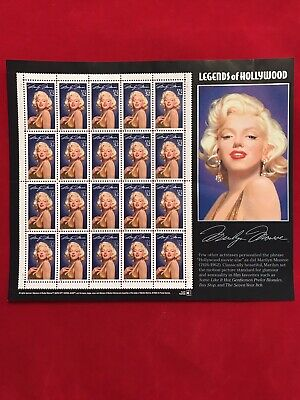 1995 MARILYN MONROE STAMPS 1st Legends of Hollywood Mint Sheet 20 x 32¢