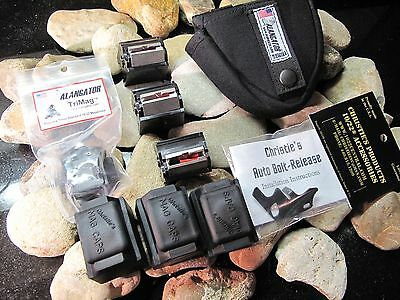 Ruger 10/22 TACTICAL KIT Magazines KIT Trimag Auto Bolt POUCH 10 rd & DUST CAPS!
