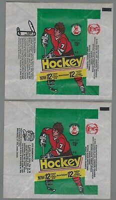 1977-78 O-Pee-Chee WHA Hockey Wax Wrappers 2 Different