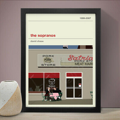 THE SOPRANOS Altenative Minimal Poster TV Art Print