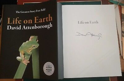 Life on Earth SIGNED Sir David Attenborough HB 2018 1st edition 1st impression
