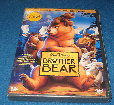 Walt Disney's Brother Bear (DVD, 2004, 2-Disc Set, Special Edition) Sealed!