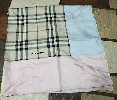 749126e038fb BURBERRY SMOKED TRENCH Check Silk Scarf -  175.00