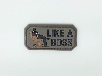 Like A Boss PVC Airsoft Patch Brown