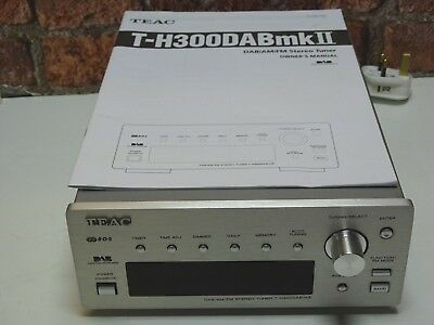 TEAC T-H300DAB MKII Reference 300 Brushed Aluminium DAB, AM & FM Radio Tuner