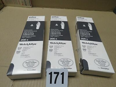 (4-Boxes) Braun PC 200 Probe Cover by Welch Allyn (Pack of 200)