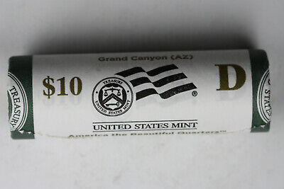 2010 D Grand Canyon America The Beautiful Quarter roll original mint wrapped