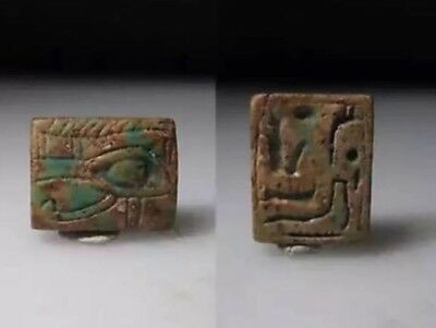 Ancient Egyptian Steatite Plaque With A Wedjat Eye 1293-715 B.C