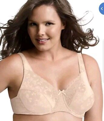 c0b2fbe1d01 PLAYTEX - 42DDD - Secrets Full Figure Underwire Bra  4422 Natural Beige New