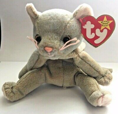 c456530a6fe Ty Beanie Baby Scat the Cat Retired Misspellings Errors Rare