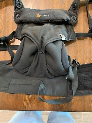 Ergobaby 360 4 position baby carrier (pure black)