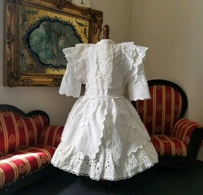 """Vintage French victorian dress 18"""" for antique bisque German doll 26-32"""""""