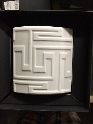 Versace Dedalo Vase,  White - 14 cm NEW in BOX!  Retired