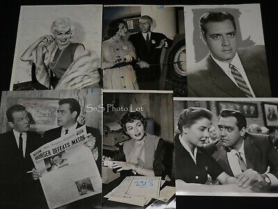 "6 x TV Press Kit Photos ~ 8x10 ""Perry Mason"" Raymond Burr James Coburn & More"