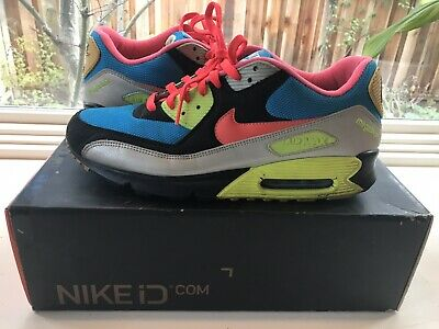 2004 NIKE AIR max 90 id Pink Neon Green Atmos Kaws Patta Rare Air
