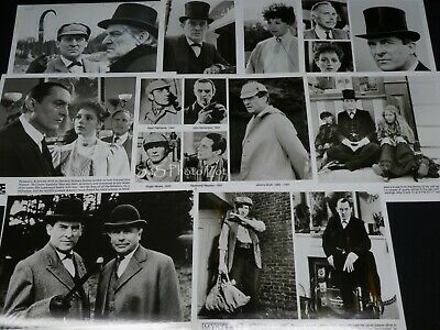 "14 x TV Press Kit Photos ~ 8x10 ""Sherlock Holmes"" Jeremy Brett David Burke ++"
