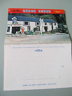 Vintage Foldout Colour View Folder, TUDOR COURT model village Tasmania unused