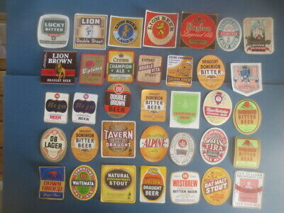 35 different BEER LABELS  from New Zealand Breweries collectable